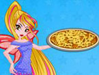 Winx Flora Cooking Poutine Pizza